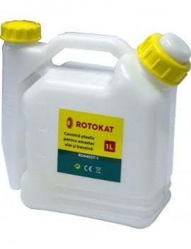 Canistra de plastic pentru amestec ulei si benzina 1L RO0403